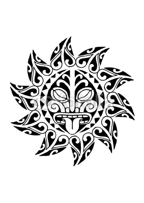 tatuagem de sol maori desenhos de tattoos. Black Bedroom Furniture Sets. Home Design Ideas