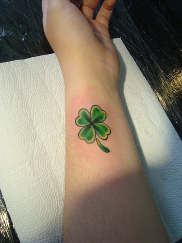4 Leaf Clover Tattoo On The Neck  Tattoo Ideas